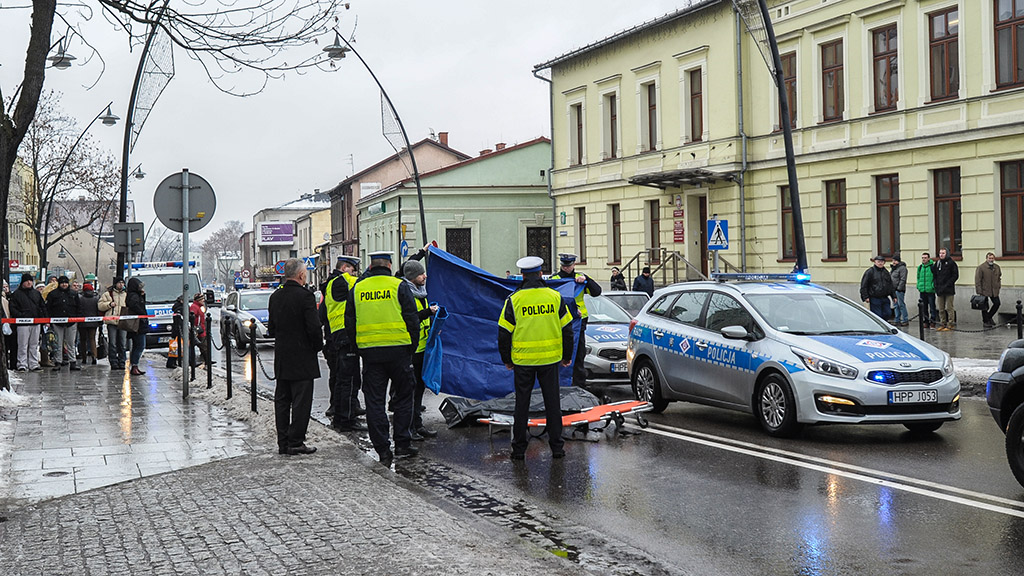 Wypadek śmiertelny Jaworzno Grunwaldzka potracenie na pasach Policja