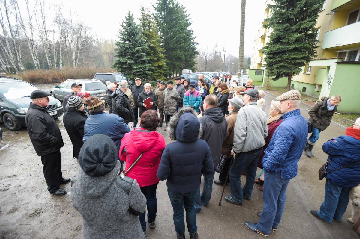 Spotkanie mieszkańców Osiedla Stałego w sprawie budowy nowego łącznika.